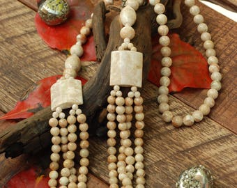 "28"" - 30"" Fossil Coral Never Ending Necklace"