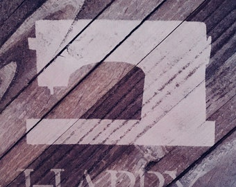 "Wall hanging, ""Sew Happy"""