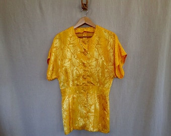 Yellow Silk Blouse