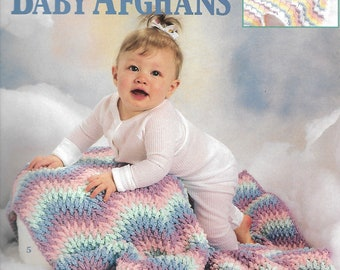 Over the Rainbow Baby Afghans, Leisure Arts 3229