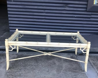 Vintage Thomasville Faux Bamboo Coffee Table