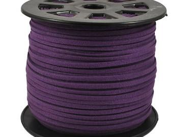 Wholesale-100Yds Deep Purple faux suede cord, 3mm, Deep Purple  faux suede cord for bracelets 3m