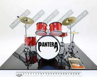 mini Drums kit PANTERA miniature memorabilia drummer drum set batteria trap Cowboys From Hell tribute dimebag darrell
