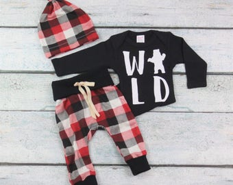 Wild outift/newborn outfit/baby boy