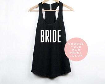 Bride Tank Top, Bachelorette Tank Top, Bride Shirt Mrs. Tank Bachelorette Party Shirts Bachelorette Tanks Bride Top Bride Gift Bridal Shower