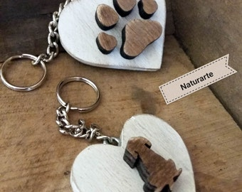 Key chains Dog and Paw