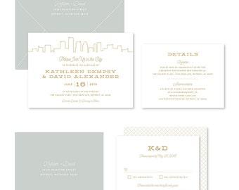 Wedding Invitation Suite Sample - Skyline
