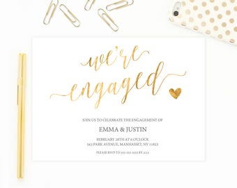 Engagement Party Invitation, Engagement Party Invitation Printable, DIY Engagement Party Invites, Engaged, Engagement, Engagement Invite 738