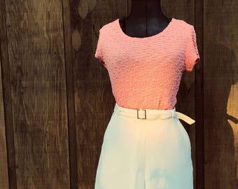 Vintage Ruffle Pink Top