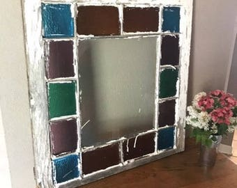 Antique Stained Glass Window Queen Anne