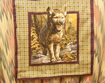 Throw Pillow Cover, Wild Wolf Cub Print