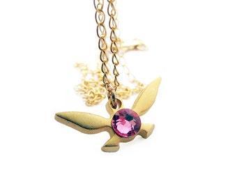 Zelda Navi Necklace - Gold plated brass - Handmade