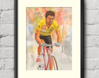 Pedro Delgado Tour de France 1988 Fine Art Cycling Print