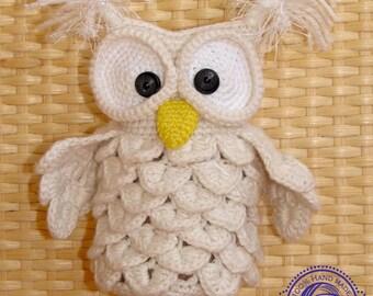 snowy owl toy Hedwig crochet bird white owl plush cute owl stuffed animal woodland plushies baby shower kids gift nursery decor sister gift