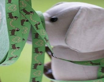 Dogs stripe green farbenmix Ribbon