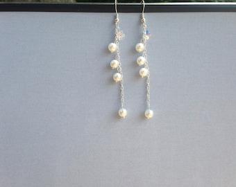 Long Chain Link Earrings Silver Earrings studs, long earrings silver studs earrings Stunning Dangle Drop Earrings