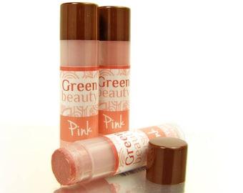 Lip Tint, Pink, cheek highlighter, natural lip balm, tinted lip balm, sheer lip color, natural makeup, mineral makeup,  cosmetics, YLBB