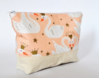 Swan Zippered Pouch