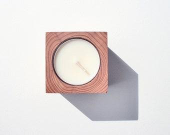 tealight candleholder [red cedar]