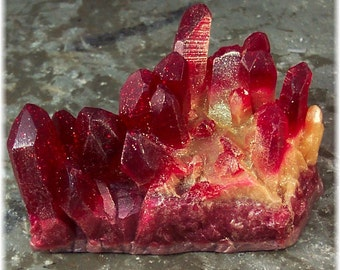 Ruby Geode Raw Crystal Glycerin Soap Rock Formation