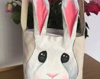 Easter Bunny bag *TOTES ADORBS* White inner
