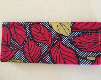 Select from Vibrant torquise leaves,Hot Pink, and neutral Biege African Head Wrap 21''x70''