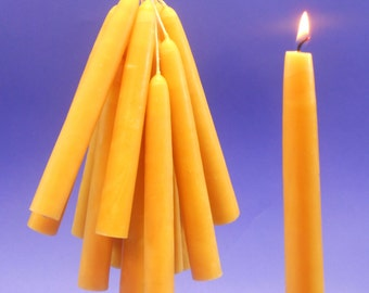 """100 Beeswax Candles, Pure Beeswax Tapers, 3/4"""" x 6"""" Taper Candles, 50 Pair of Bees Wax Tapers, Home Decor, Wedding Reception Candles"""