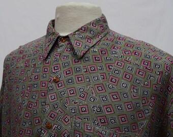 Diamond Printed Long Sleeved Shirt