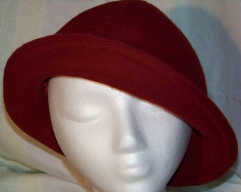 Wool Cloche Brim Hat