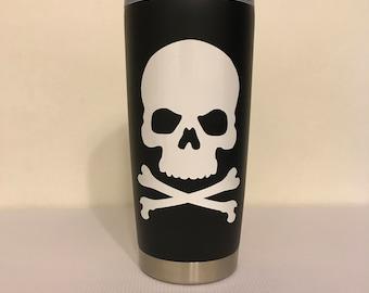 Skull and Crossbones 20 oz. Stainless Steel Travel Tumbler
