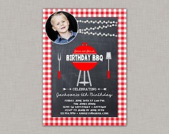 Birthday BBQ Invitation, Backyard BBQ Invitation, BBQ Invitation