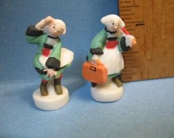 BECASSINE Breton Housemaid Comic - French Feve Feves Figurines Miniatures V38