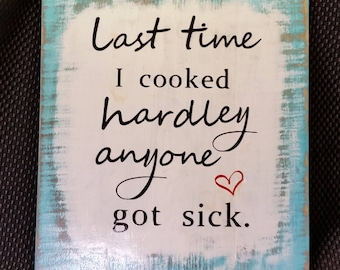 Kitchen Humor (blue),   Reclaimed Wood Sign,  Kitchen decor