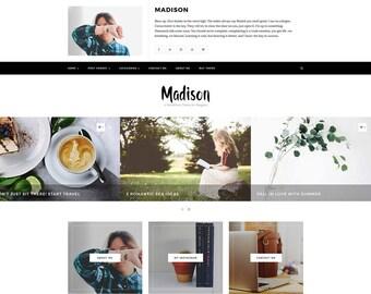 Madison - WordPress Theme - WordPress Blog Theme - WordPress Template - WordPress Responsive - WordPress Blog - WordPress Theme Blog - Blog