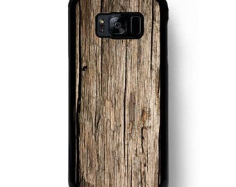 Brown Wood Pattern Galaxy S8 Case, for Samsung S9 Plus S8 S7 Edge Cases, Raw Elm Wooden Texture Print S6 Active s5 s4  Covers
