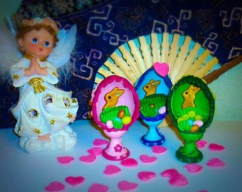 Easter, Easter egg with Easter Rabbit