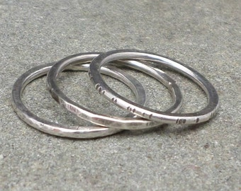 Minimalist Rings Sterling Silver Stackable Ring Stacking PICK ONE