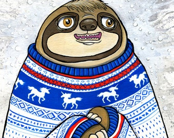 Sweater Weather Sloth