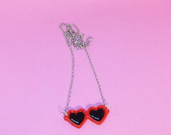 Heart Sunglasses Necklace