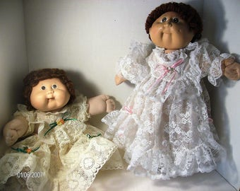 Pretty in Lace Cabbage Patch Doll Dresses which may possibly fit Preemies 3-5 pounds