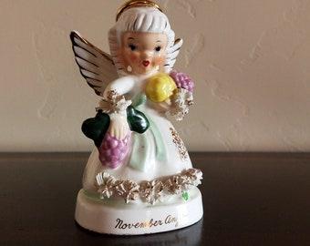 Vintage Napcoware November Birthday Angel