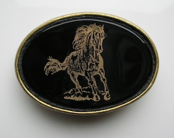 Running Horse Belt Buckle Horse Jewelry Accessories Fused Glass Belt Buckle Horse Gifts Equestrian Jewelry