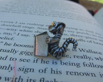 Bookworm Lapel Pin- CC445- Reading, Literature, and Education Pins for Librarians, English Teachers, Literacy and Writing Pins and Gifts