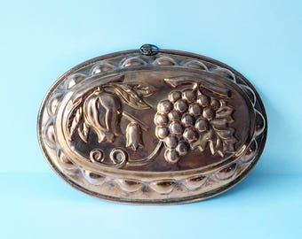 Copper Mold Decorative mold Grapes Kitchen decor Heavy duty