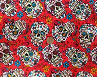 Day Of The Dead Skulls Fabric