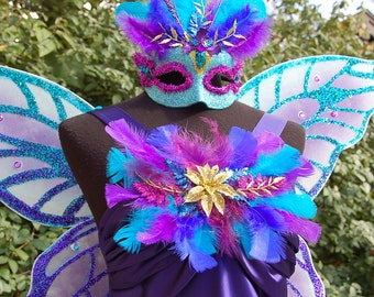Enchanted Indigo Glitter Fairy Costume