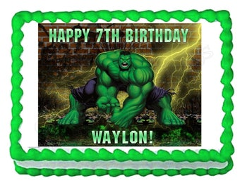 The Incredible Hulk party edible cake image cake topper frosting sheet