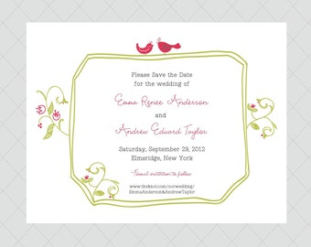 Whimsical Save the Date Cards