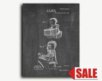 Patent Art - Toy Money Box Patent Wall Art Print