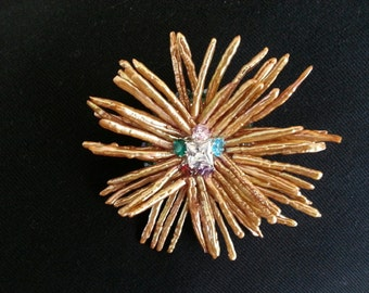 Stick Pearl Bead Flower Pin